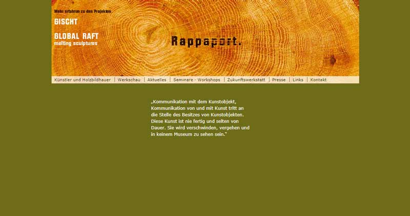 Atelier-Rappaport alte Webseite