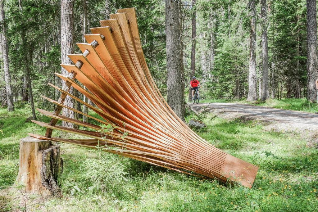 Land Art beim Bildhauersymposium Art-Engiadina 2018
